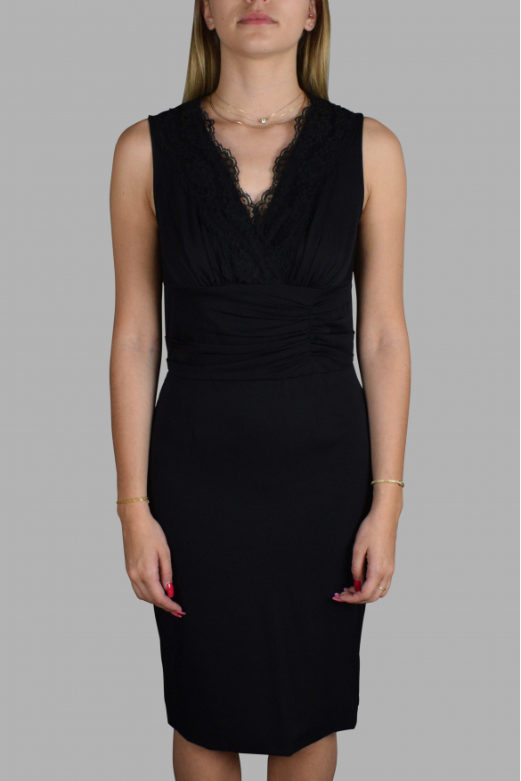 Luxury dress for women - Dolce & Gabbana black dress with lace details