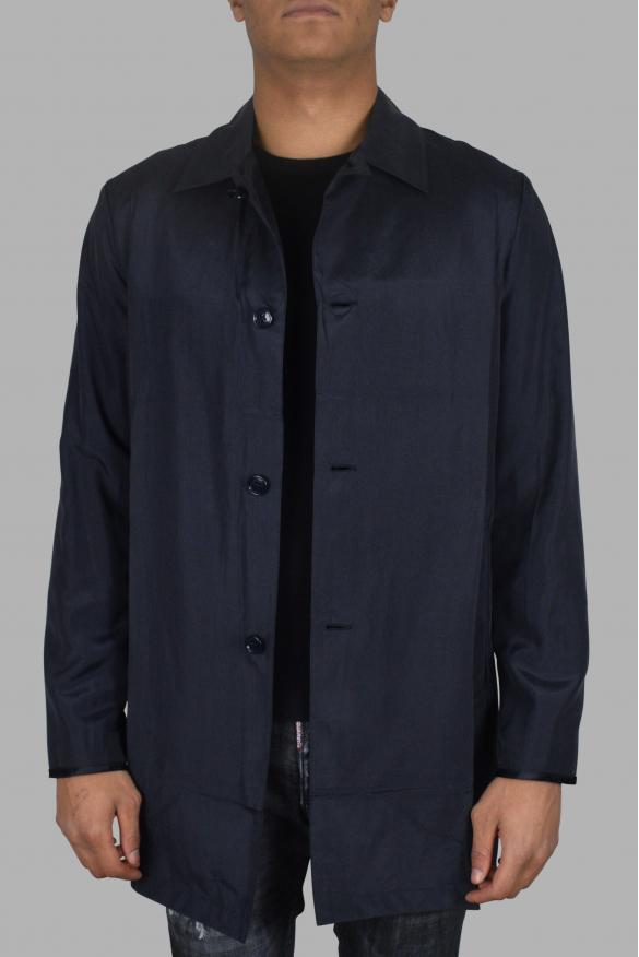 Men's luxury coat - Prada long blue coat