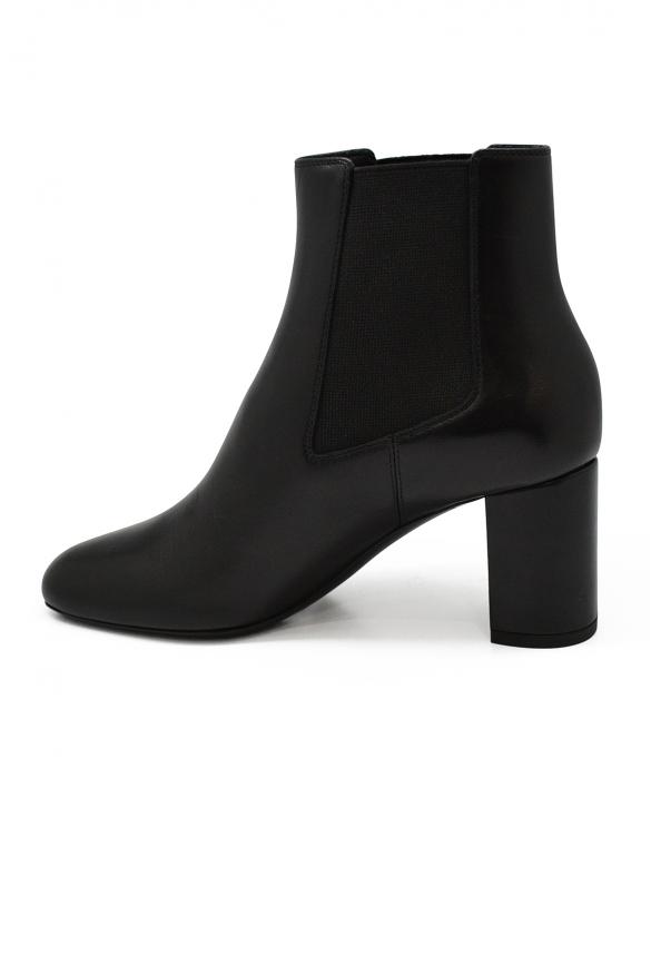 Luxury shoes for women - Saint Laurent Loulou elastics ankle boots