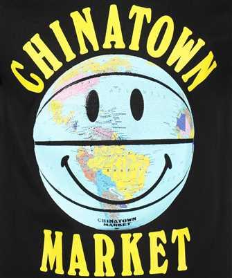 smiley globe ball T-shirt
