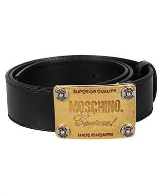 moschino metal buckle belt
