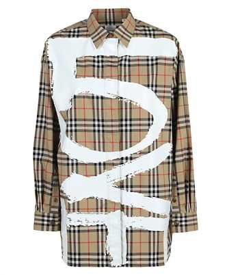 Burberry LOVE PRINT VINTAGE CHECK COTTON OVERSIZED Shirt