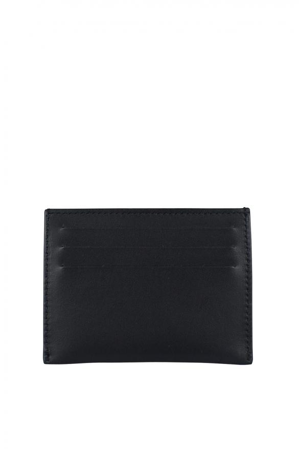 Men's luxury card holder - Givenchy card holder in black calfskin.