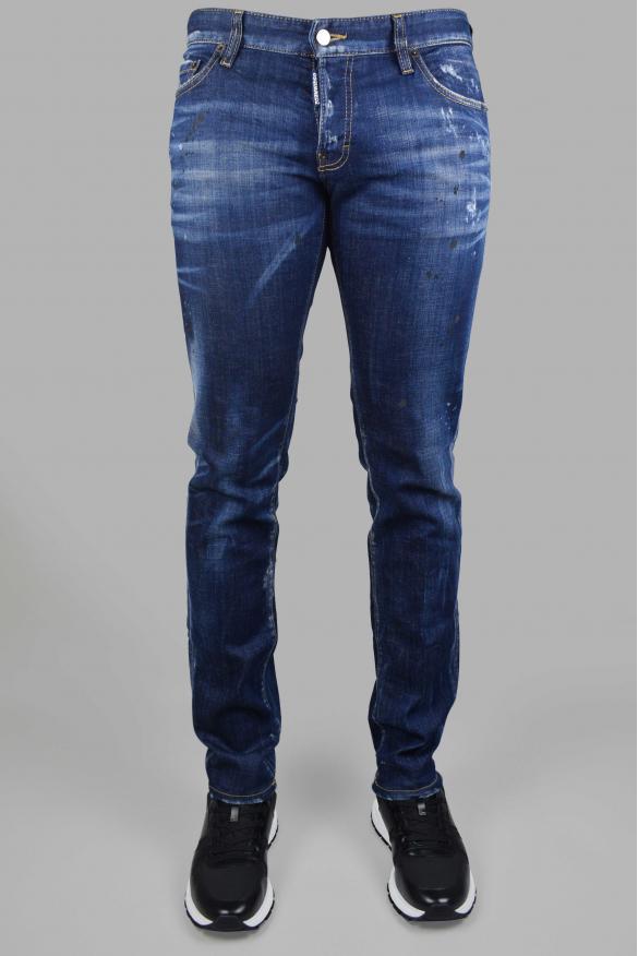 Men's luxury jeans - Slim Jean Dsqaured2 dark blue
