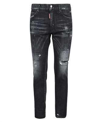ripped straight-leg jeans