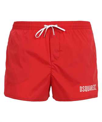elasticated-waist swim shorts