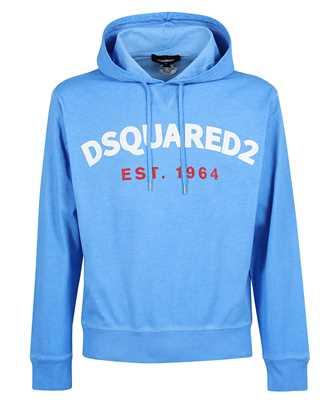 logo-print drawstring hoodie