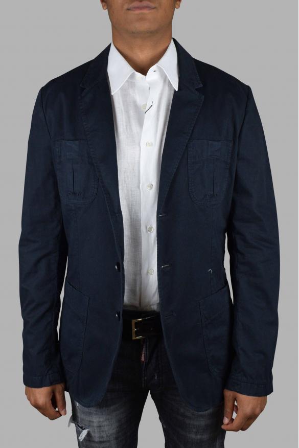 Men's luxury jacket - Blue Dolce & Gabbana jacket with several pockets