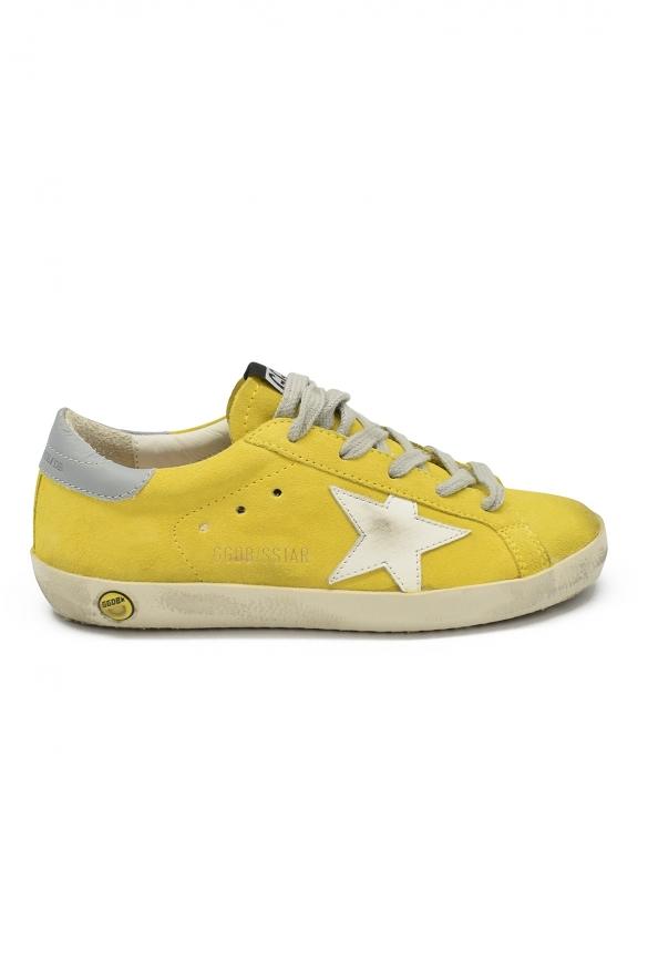 Golden Goose kids - Golden Goose Superstar yellow suede sneakers white star