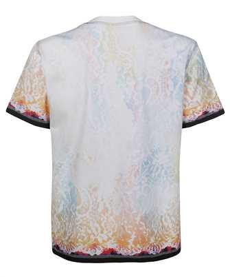Koché WHITE BURNING COVER-STITCH T-shirt