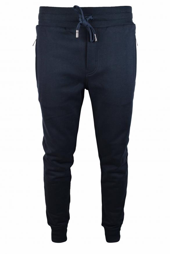 Men's designer jogging - Dolce & Gabbana blue zipped jogging