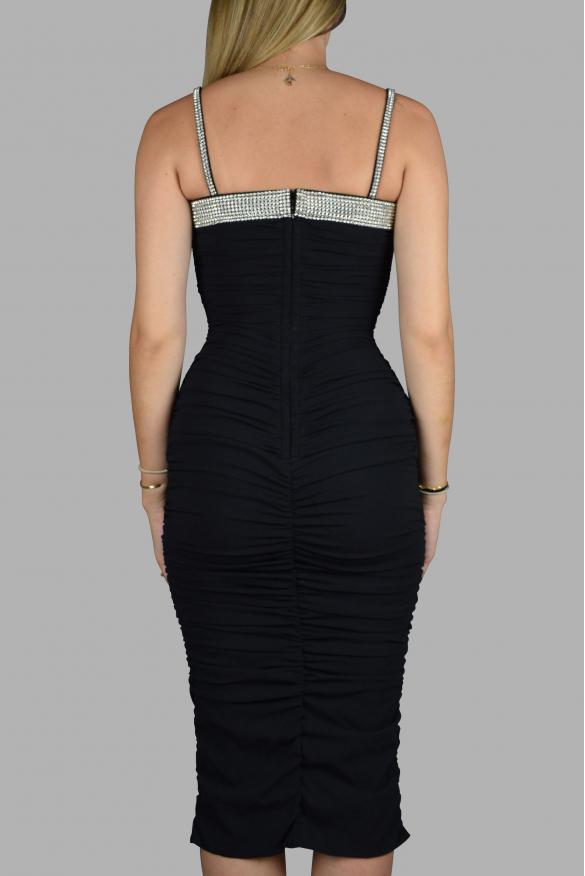 Luxury dress for women - Dolce & Gabbana black dress with rhinestones
