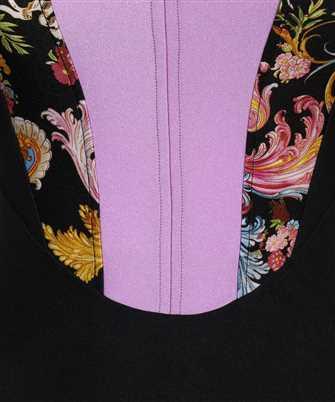 barocco-print two-tone bodysuit
