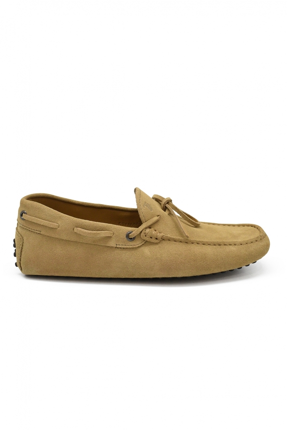 Luxury shoes for men - Tod's loafers in beige suede