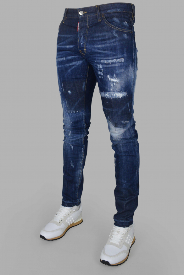 Men's luxury jean - Cool Guy Jean Dsquared2 blue with patch  DSQ