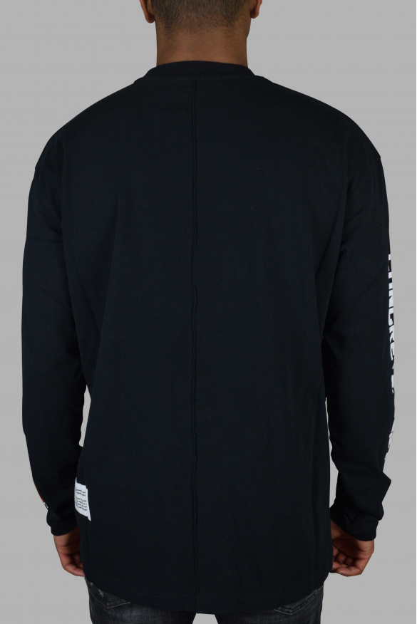Men's Luxury T-Shirt - Black Heron Preston Long Sleeve T-Shirt