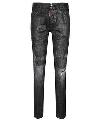coated cropped skinny jeans