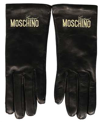 leather logo gloves