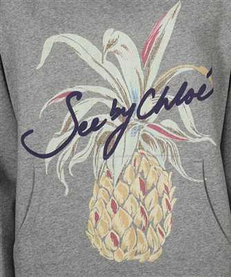pineapple-print long-sleeved hoodie