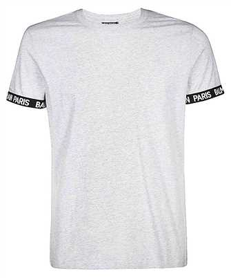 balmain balmain paris elastic rib t-shirt