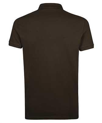 logo-patch polo shirt