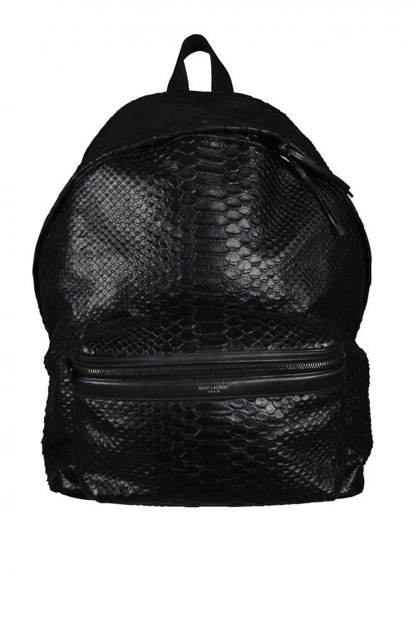 Luxury backpack - Saint Laurent black python backpack
