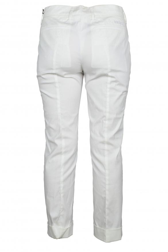 Luxury trousers for women - Prada white trousers