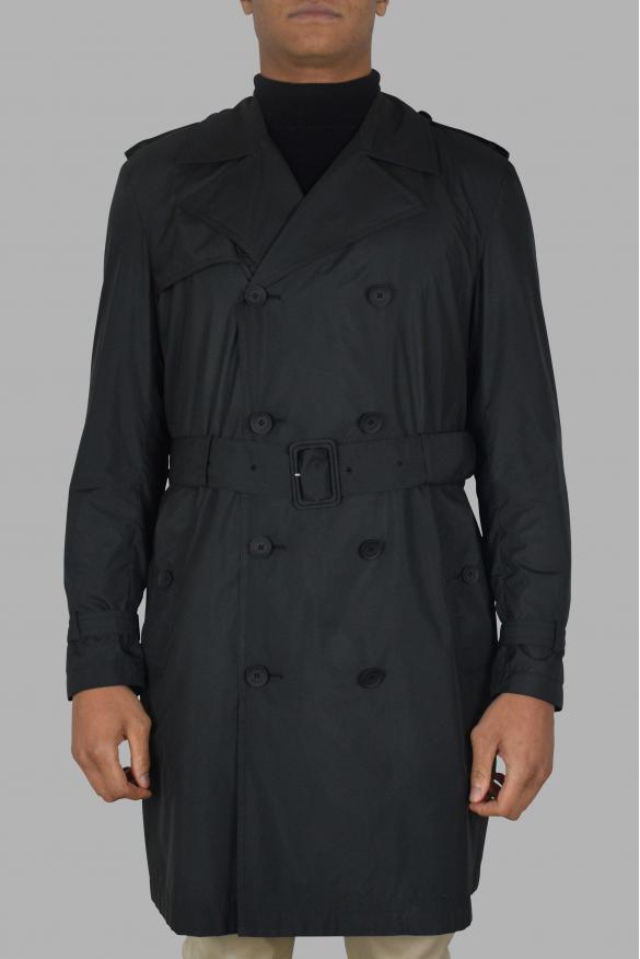 Mens's luxury coat - Valentino black trench coat