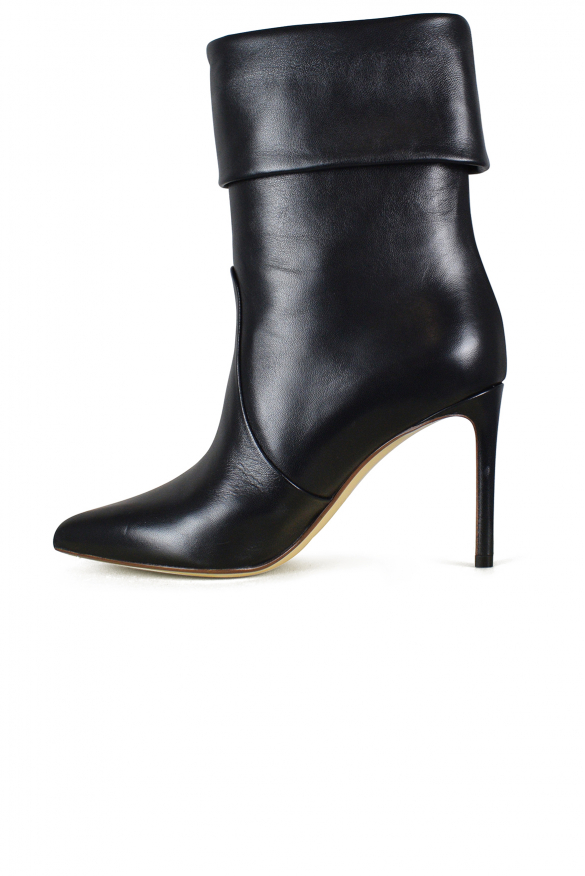 Women's luxury ankle boots - Francesco Russo black leather ankle boots