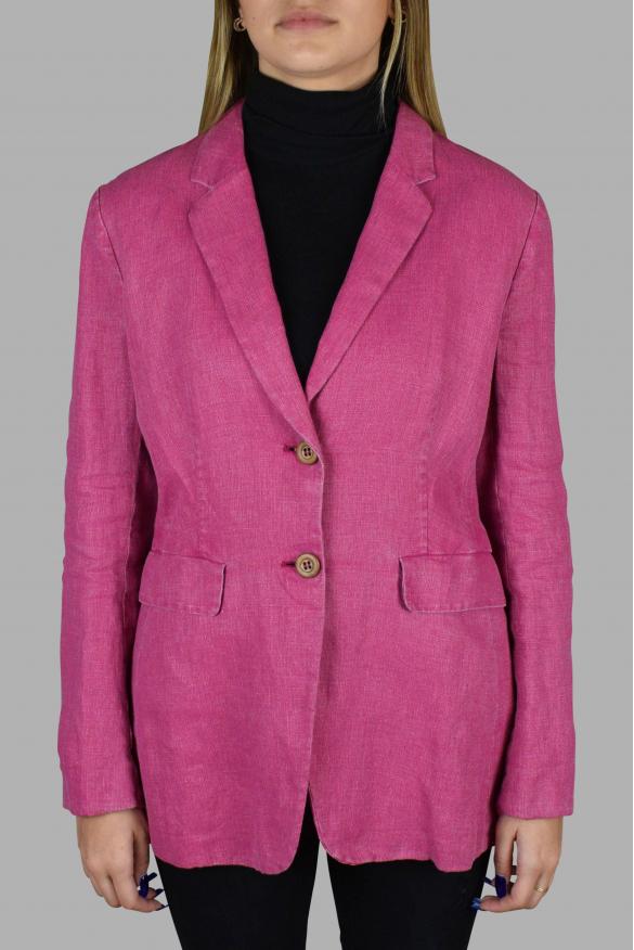 Women's luxury jacket - Prada pink linen jacket with belt