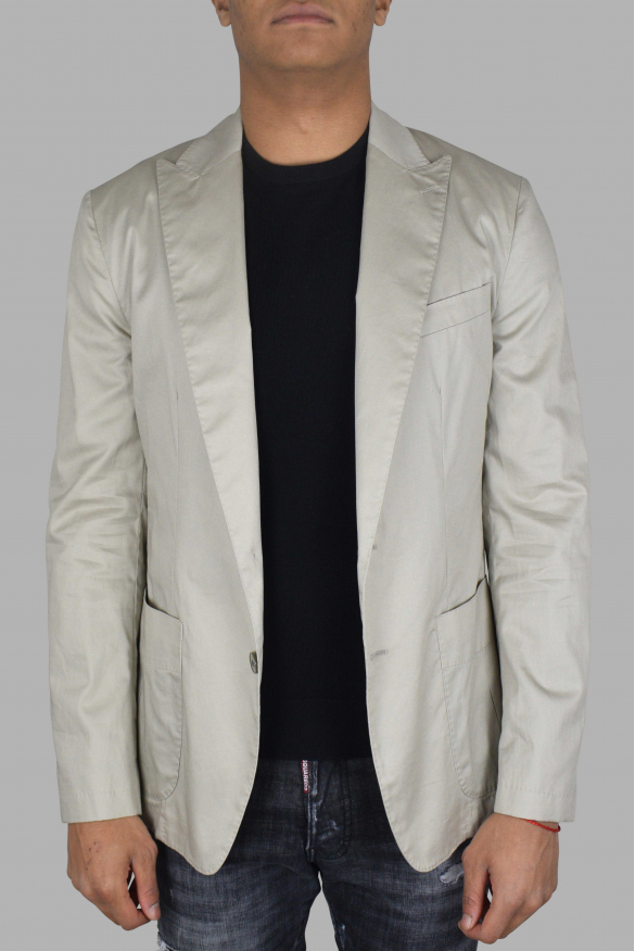 Men's luxury jacket - Beige Dolce & Gabbana jacket in cotton and linen