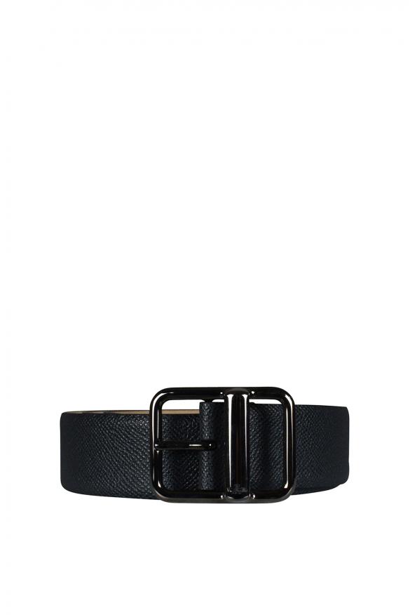 Men's luxury belt - Valentino Garavani belt in dark gray leather
