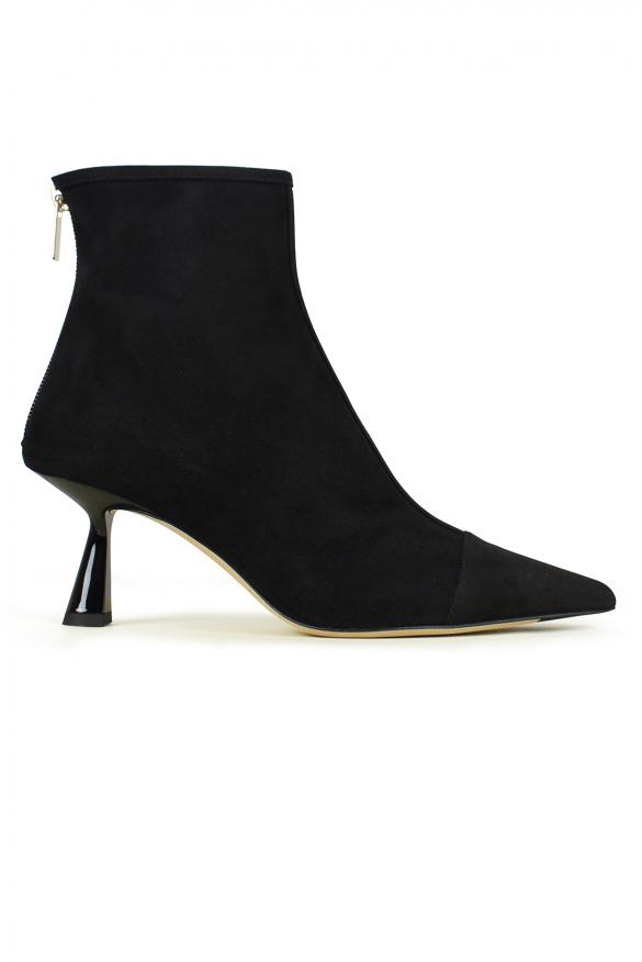 Luxury shoes for women - Jimmy Choo Kix 65 black suede ankle boot