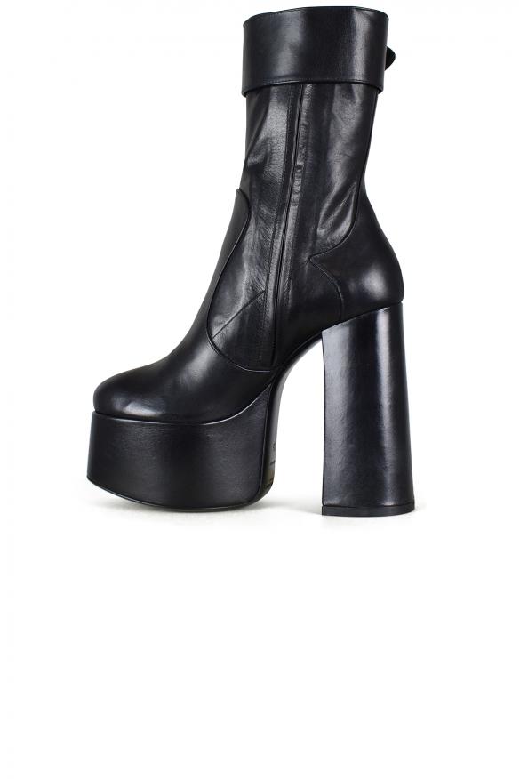 Women shoes - Saint Laurent Billy platform boots with black buckle