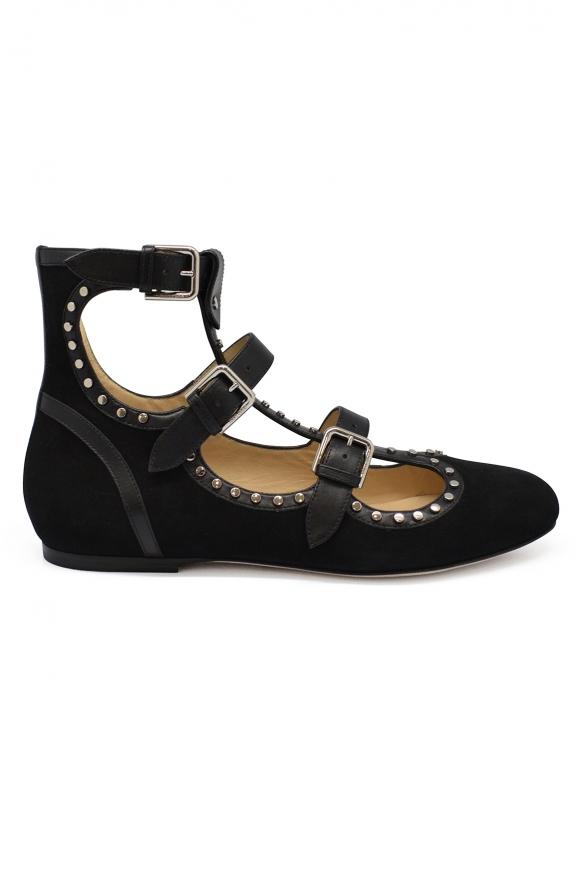 Women luxury shoes - Jimmy Choo Hartley ballet flats in black suede