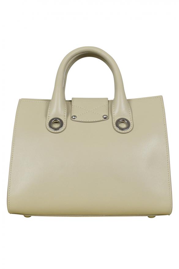 Luxury handbag - Jimmy Choo Mini Riley model handbag in beige leather