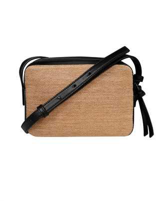 straw effect canvas camera bag