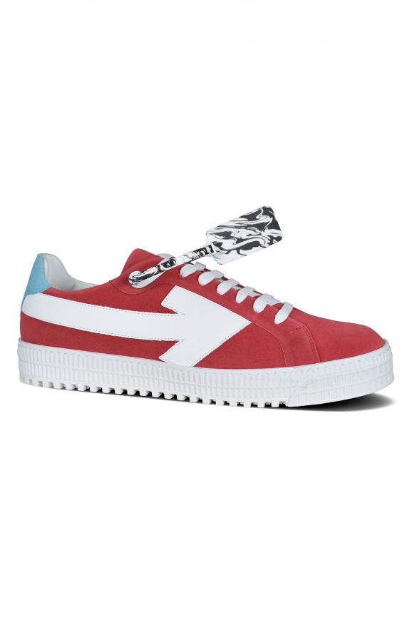 Men's luxury sneakers - Arrow Off-White sneakers in red suede