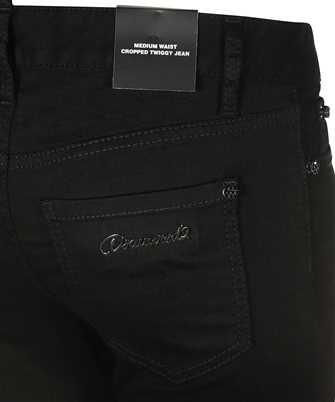 mid rise cropped jeans in black