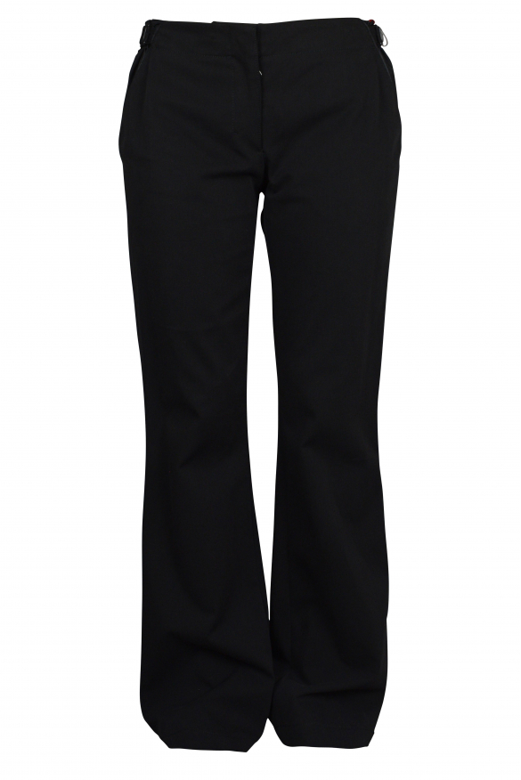 Luxury trousers for women - Prada black trousers with pocket details