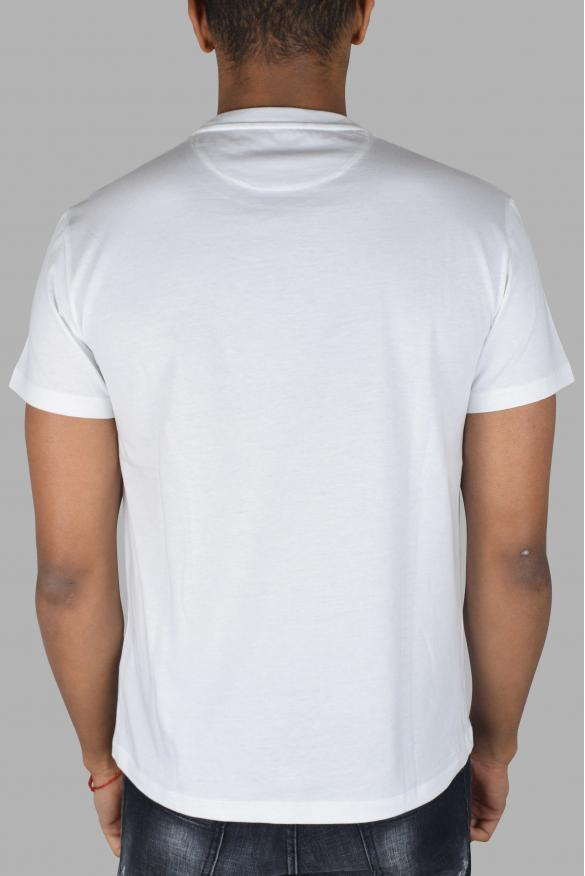 Men's designer t-shirt - Valentino white t-shirt with red VLTN logo