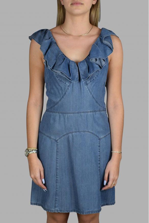 Luxury dress for women - Prada blue denim effect dress