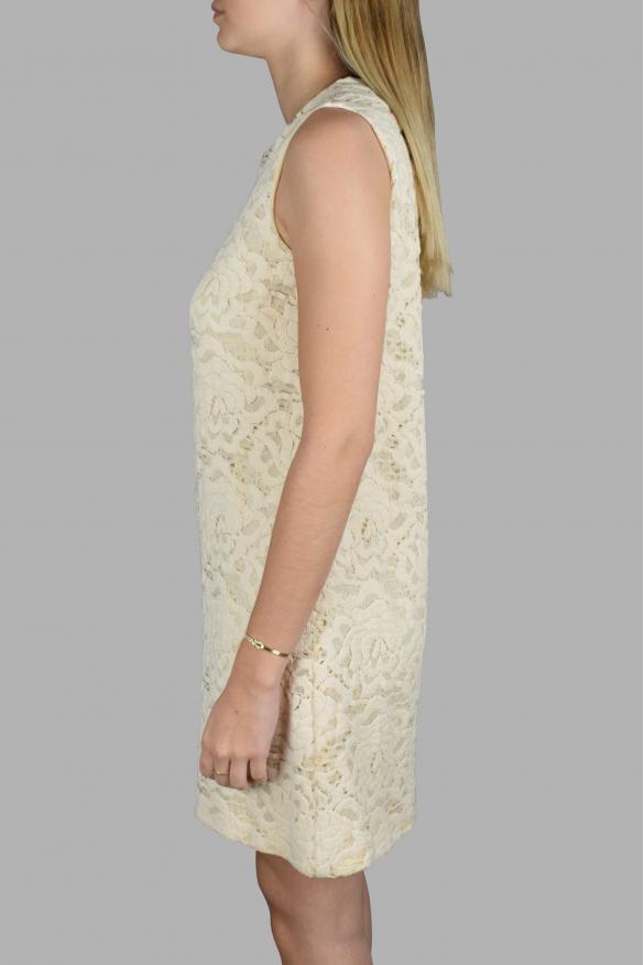 Luxury dress for women - Dolce & Gabbana dress in beige embroidery