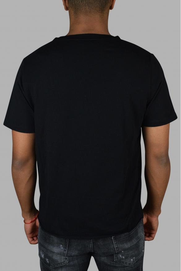Men designer t-shirt - Saint Laurent 1971 black t-shirt silver logo