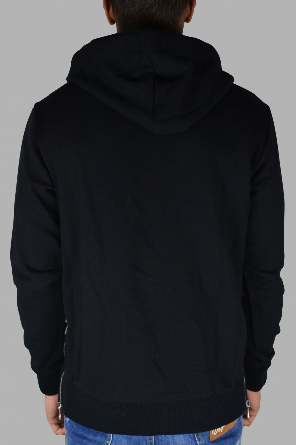 Men's designer hoodies - Balmain zipped black hoodie