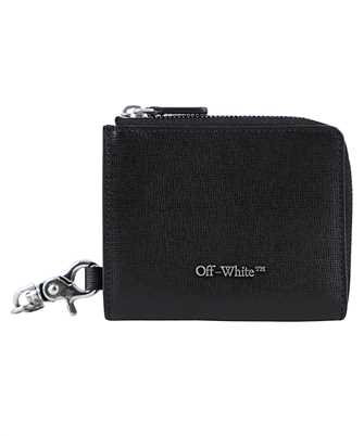 chain wallet in leather with print