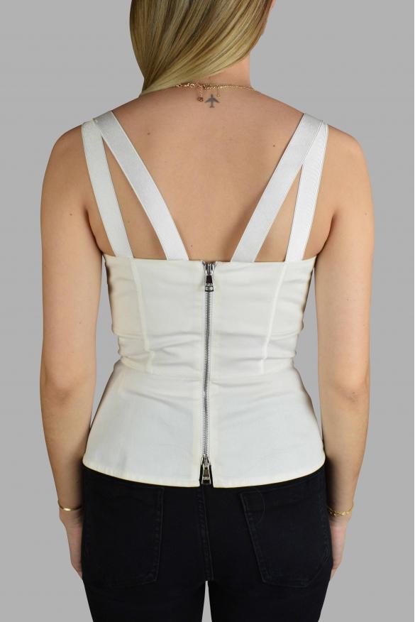 Women's luxury t-shirt - Dolce & Gabbana white corset style top