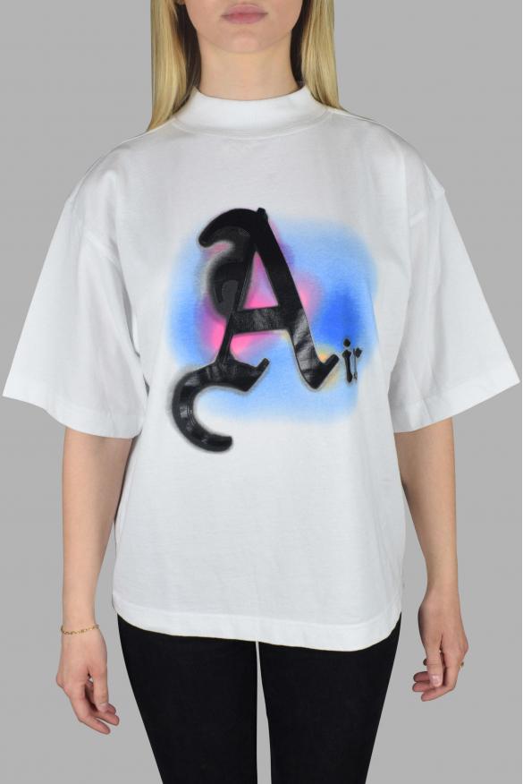 Women's Luxury T-Shirt - Air Palm Angels White Oversized T-Shirt