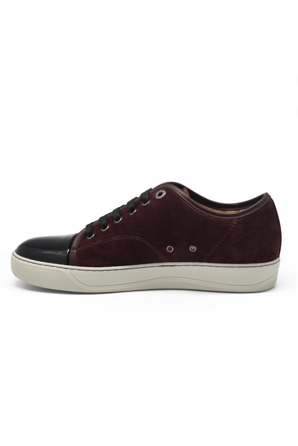 Luxury sneakers for men - Lanvin DBB1 sneakers in burgundy suede