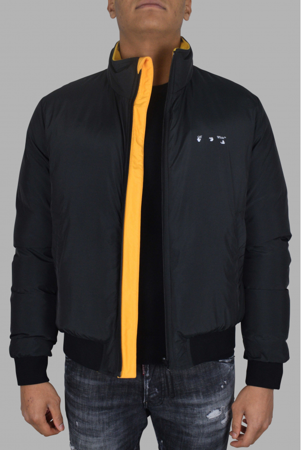 Luxury jacket for men - Off-White reversible yellow and black puffer jacket